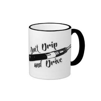 No gotee y no conduzca la taza