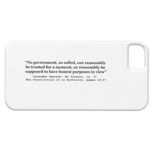 No government Can Reasonably Be Trusted iPhone 5 Covers