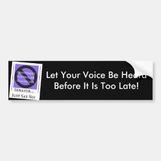 No Government Controlled Healthcare Bumper Sticker