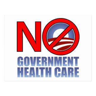 No Government Health Care Postcard