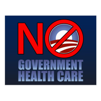 No Government Health Care Postcard