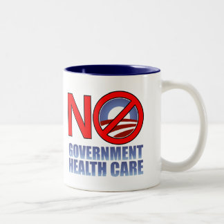 No Government Health Care Two-Tone Coffee Mug