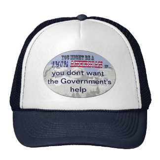 no government help trucker hat