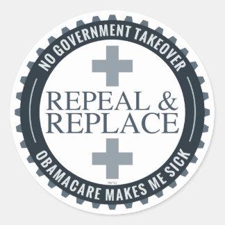 No Government Takeover Classic Round Sticker