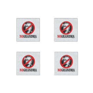 NO GRANDMA  HILLARY STONE MAGNET