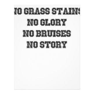 No Grass Stains, No Glory, No Bruises, No Story Letterhead