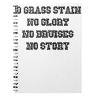 No Grass Stains, No Glory, No Bruises, No Story Notebook