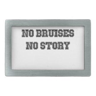 No Grass Stains, No Glory, No Bruises, No Story Rectangular Belt Buckle