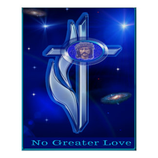 No greater love art cross poster