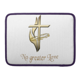 No greater Love Cross Sleeve For MacBook Pro