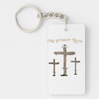 no greater love keychain