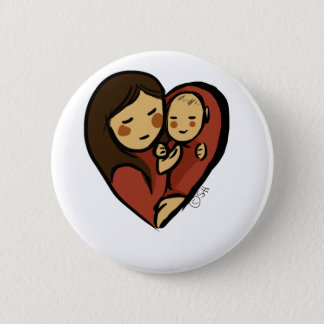 No Greater Love, Mommy and baby Pinback Button