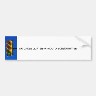 No green lighter bumper sticker