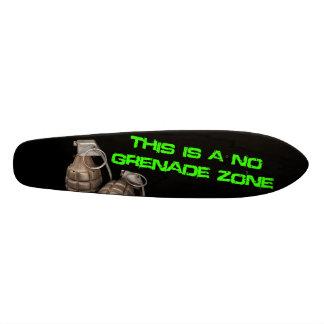 No Grenade Zone Skateboard Oldschool