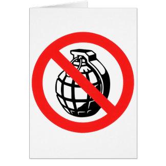 No Grenades Card