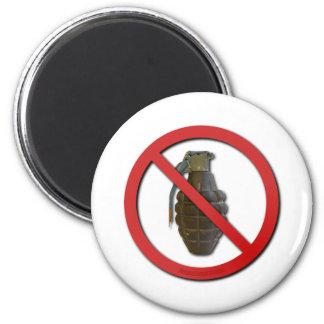 No Grenades Refrigerator Magnets