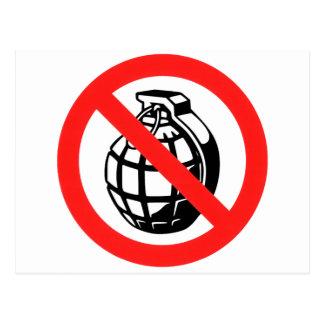 No Grenades Postcard