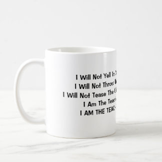 No gritaré en clase taza