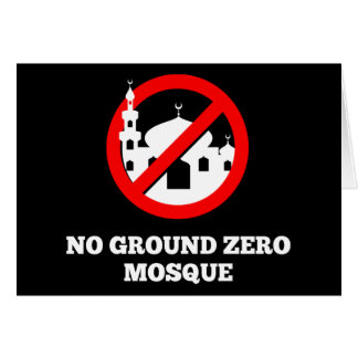 No Ground Zero Mosque Card