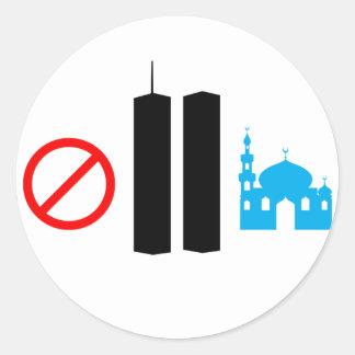 No Ground Zero Mosque Classic Round Sticker