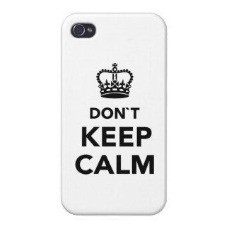 No guarde la calma iPhone 4 carcasas