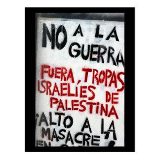 no guerra postcard