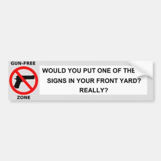 No Gun Free Zones Bumper Sticker