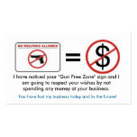 No Gun, No Money Double-Sided Standard Business Cards (Pack Of 100)