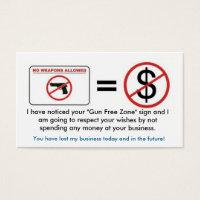 No Gun, No Money Business Card