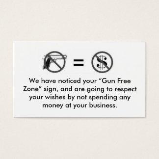 No Gun, No Sale Business Card