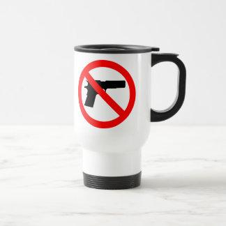No Guns Anti Gun 15 Oz Stainless Steel Travel Mug