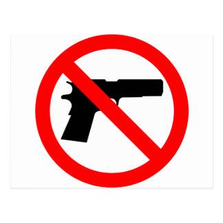 No Guns Anti Gun Postcard