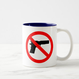 No Guns Anti Gun Two-Tone Coffee Mug