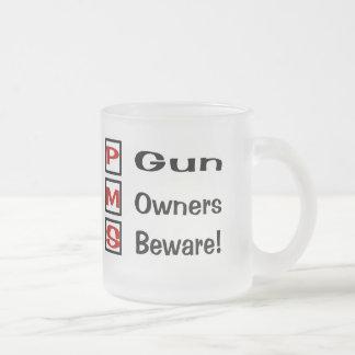 No Guns Frosted Glass Coffee Mug