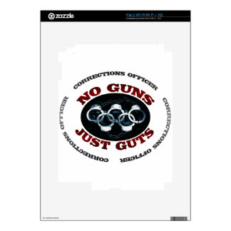 No Guns Just Guts Decals For iPad 2