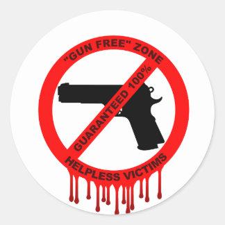 No guns, just victims classic round sticker