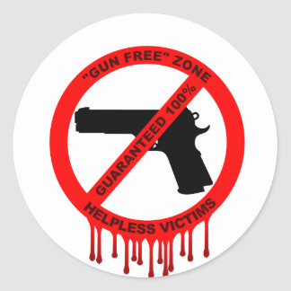No guns, just victims round stickers