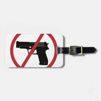 No Guns Luggage Tag