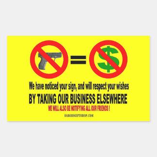 NO GUNS, NO MON STICKERS
