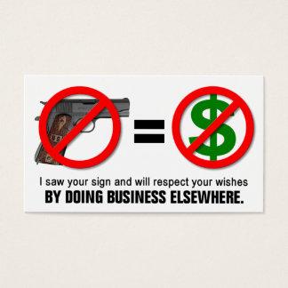 """No Guns No Money"" Missouri CCW Business Card (1A)"