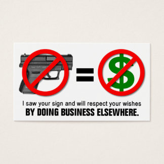 """No Guns No Money"" Missouri CCW Business Card (1B)"