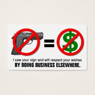 """""""No Guns No Money"""" Missouri CCW Business Card (1H)"""