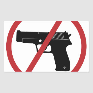 No Guns Rectangular Sticker