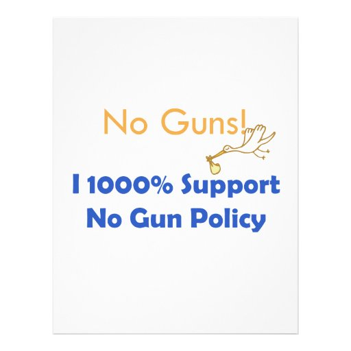 No guns! We need  food, cloth and shelter Letterhead Template