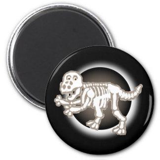 No Guts Dinosaur 2 Inch Round Magnet