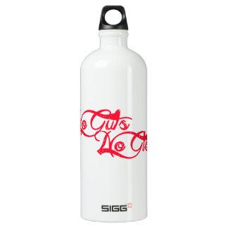No Guts, No Glory Aluminum Water Bottle