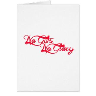 No Guts, No Glory Card