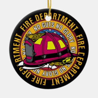 No Guts No Glory Fire Fighter Ornament
