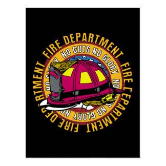 No Guts No Glory Fire Fighter Postcard