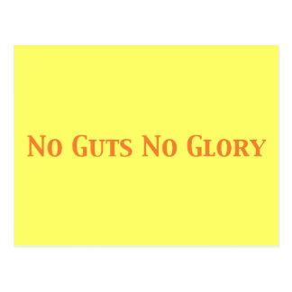 No Guts No Glory Gifts Postcard